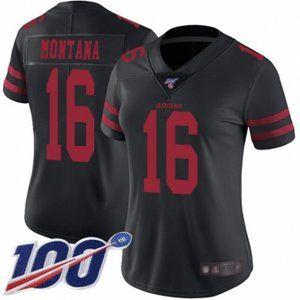 Women 49ers Joe Montana 100th Season Jersey (1)